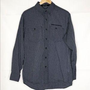 harley davidson mens shirt black cream Medium